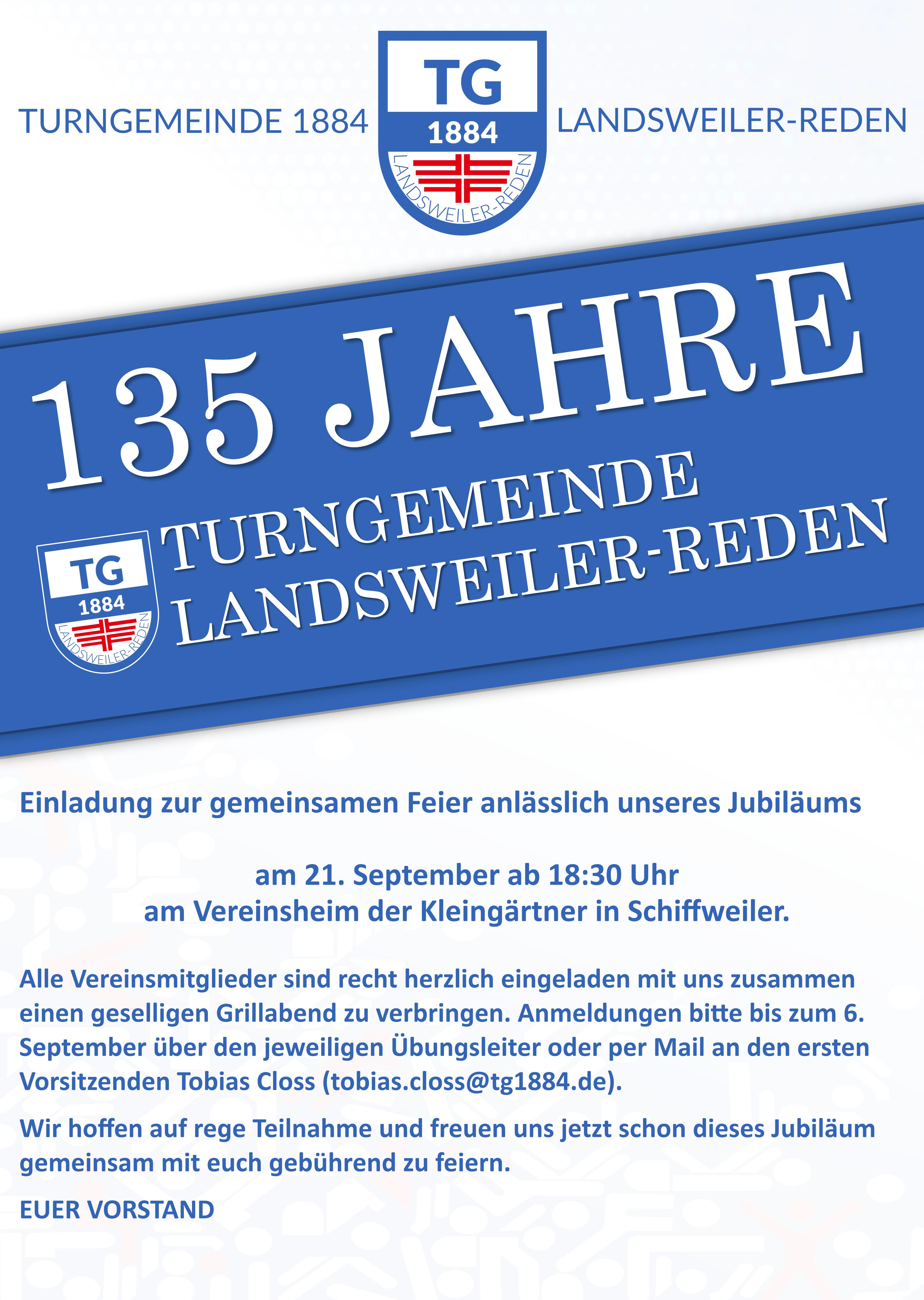 135 Jahre TG 1884 Landsweiler-Reden e.V.